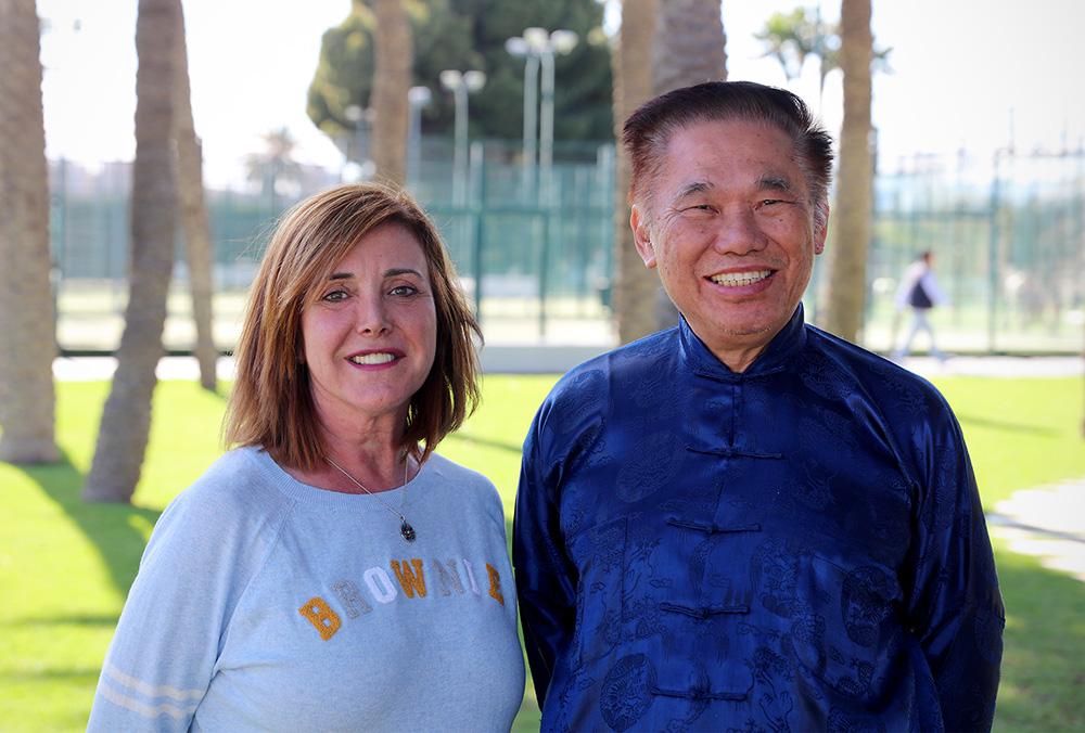 Gran Maestro Wong Kiew Kit y Sifu Trini Parreño